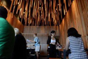 Light Installation in Modern Restaurant